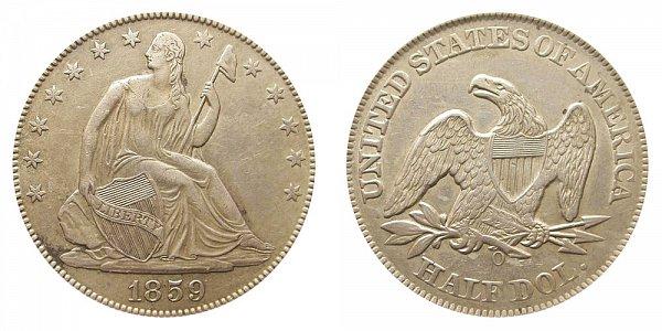 1859 O Seated Liberty Half Dollar
