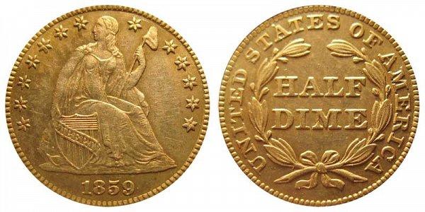 1859 Seated Liberty Half Dime