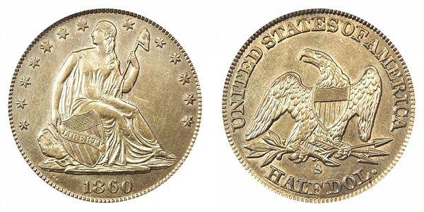1860 S Seated Liberty Half Dollar