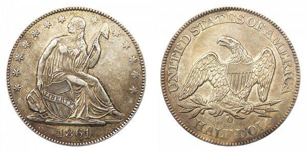 1861 O Seated Liberty Half Dollar