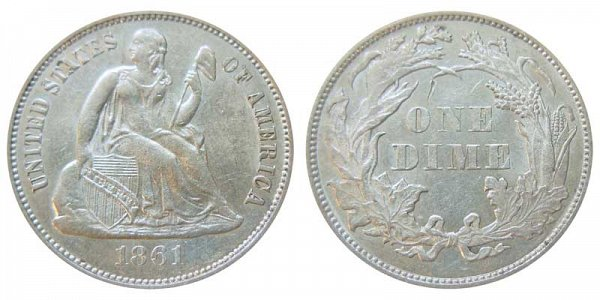 1861 Seated Liberty Dime