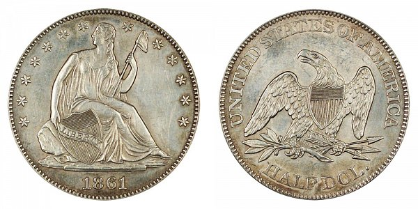 1861 Seated Liberty Half Dollar
