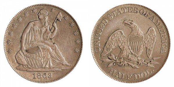 1863 Seated Liberty Half Dollar