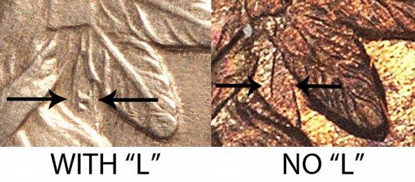 1864 No L vs With L Indian Head Cent - Bronze Penny