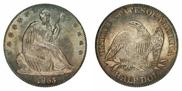 1865 Seated Liberty Half Dollar