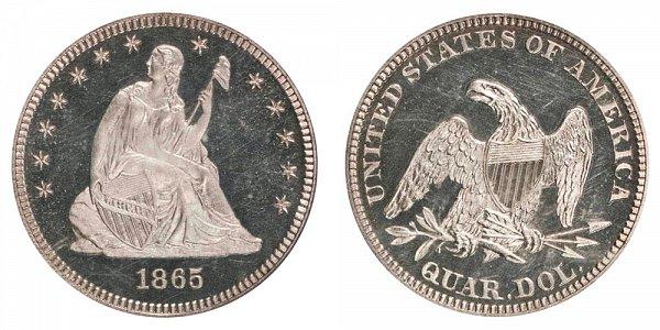1865 Seated Liberty Quarter