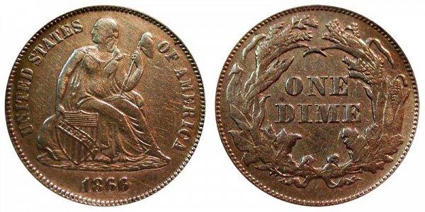1866 Seated Liberty Dime