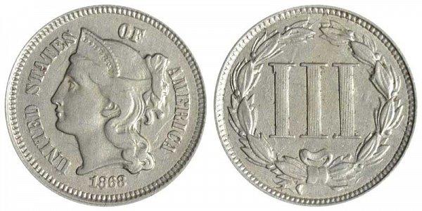 1868 Nickel Three Cent Piece