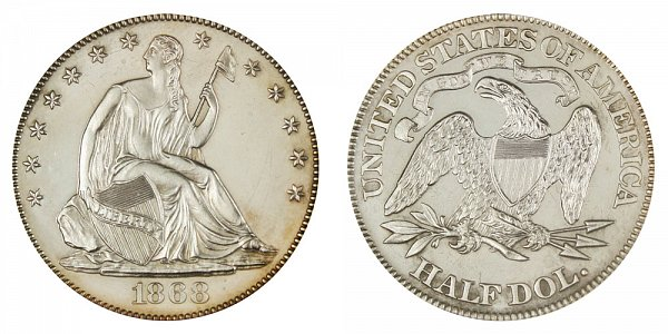 1868 Seated Liberty Half Dollar