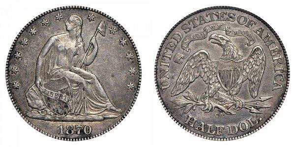 1870 CC Seated Liberty Half Dollar