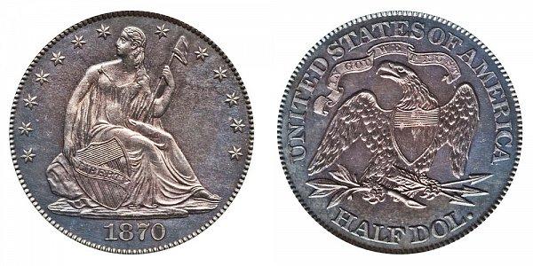 1870 Seated Liberty Half Dollar