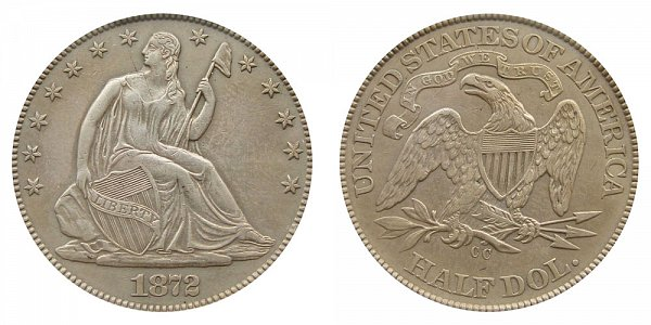 1872 CC Seated Liberty Half Dollar