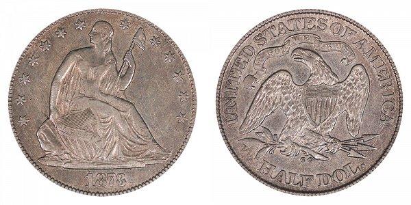 1873 CC Seated Liberty Half Dollar - No Arrows