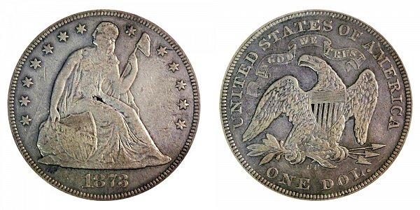 1873 CC Seated Liberty Silver Dollar