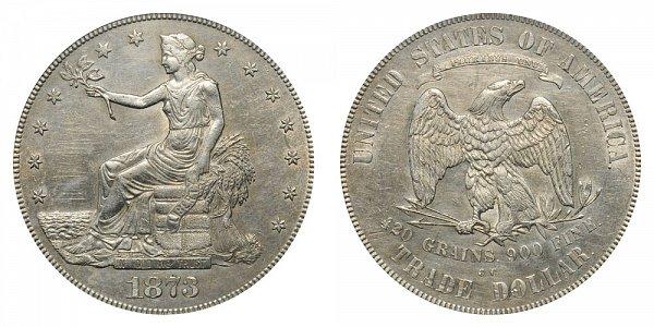 1873 CC Trade Silver Dollar