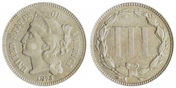 1873 Nickel Three Cent Piece - Open 3