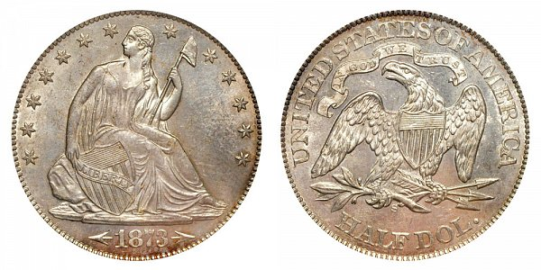 1873 S Seated Liberty Half Dollar - With Arrows At Date