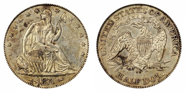 1874 CC Seated Liberty Half Dollar