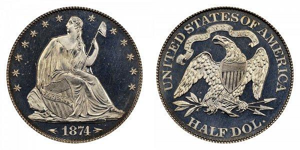 1874 Seated Liberty Half Dollar
