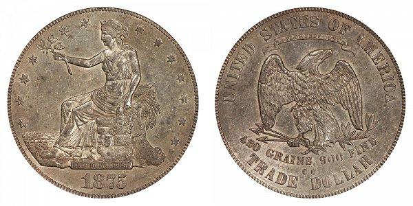 1875 CC Type 1 Trade Silver Dollar