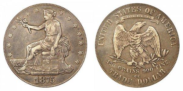 1875 CC Type 2 Trade Silver Dollar