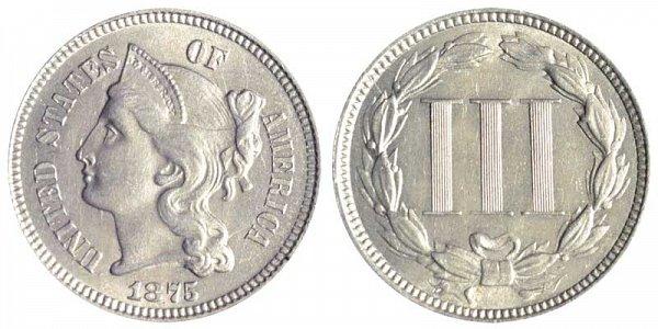 1875 Nickel Three Cent Piece