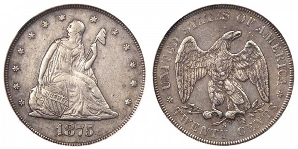 1875 S Twenty Cent Piece