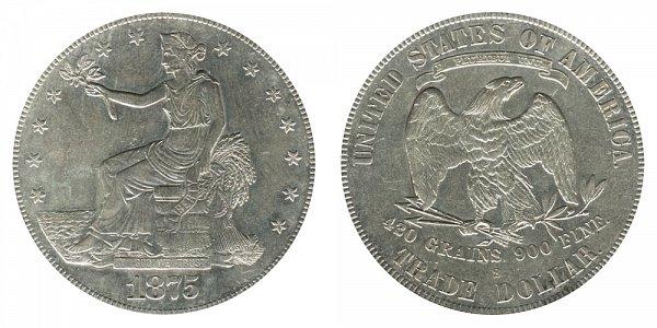 1875 S Type 2 Trade Silver Dollar