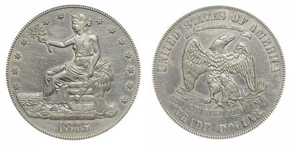 1875 Type 1 Trade Silver Dollar