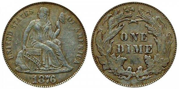 1876 Seated Liberty Dime
