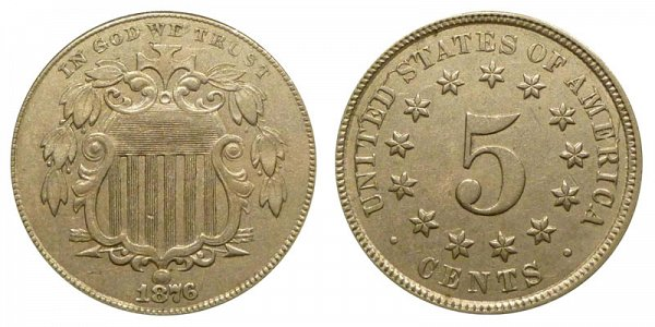 1876 Shield Nickel