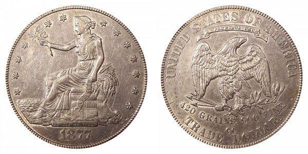 1877 CC Trade Silver Dollar