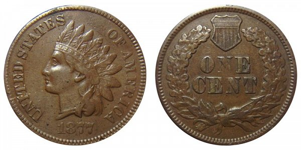 1877 Indian Head Cent Penny