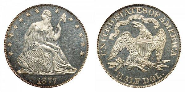 1877 Seated Liberty Half Dollar