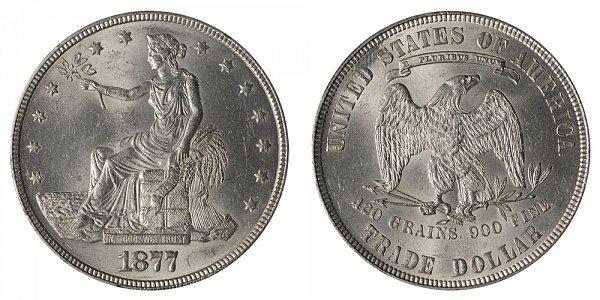 1877 Trade Silver Dollar