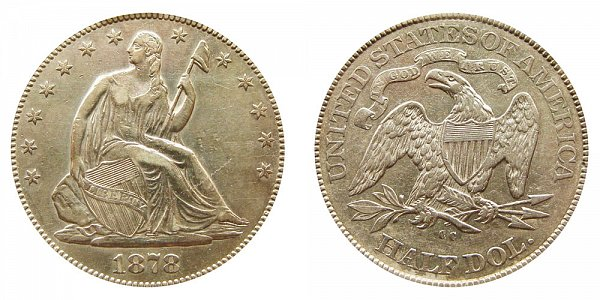 1878 CC Seated Liberty Half Dollar