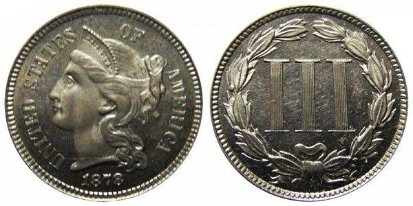 1878 Nickel Three Cent Piece - Proof