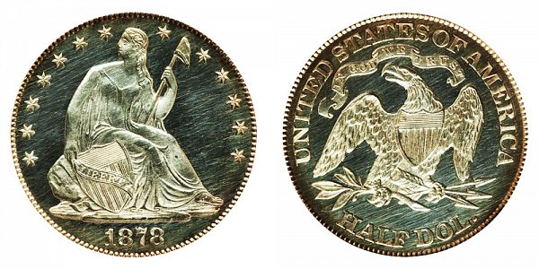 1878 Seated Liberty Half Dollar