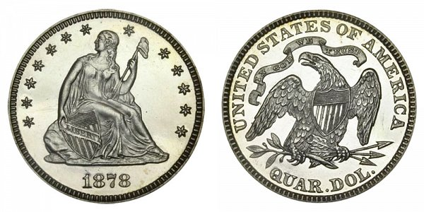 1878 Seated Liberty Quarter