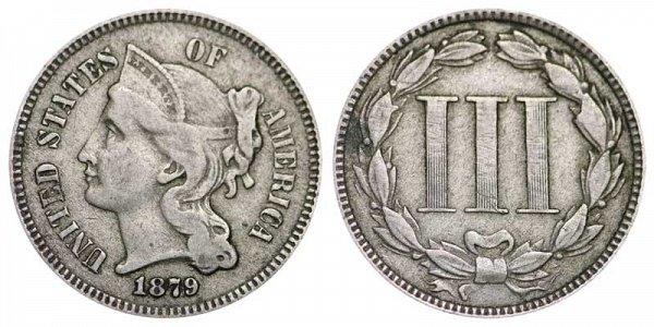 1879 Nickel Three Cent Piece