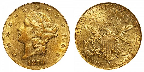 1879 O Liberty Head $20 Gold Double Eagle - Twenty Dollars