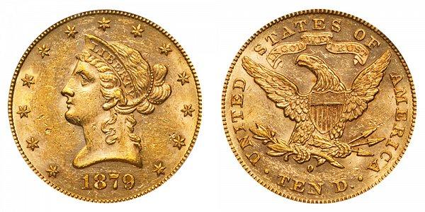 1879 O Liberty Head $10 Gold Eagle - Ten Dollars