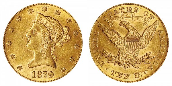 1879 S Liberty Head $10 Gold Eagle - Ten Dollars