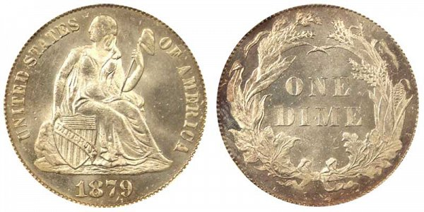 1879 Seated Liberty Dime