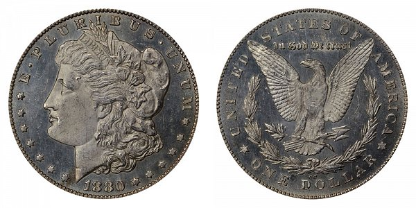 1880/79 CC Morgan Silver Dollar - Reverse of 1878 - 80 Over 79 Overdate