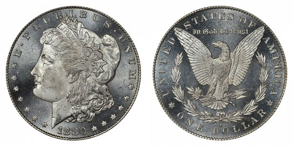 1880 S Morgan Silver Dollar - Normal Date