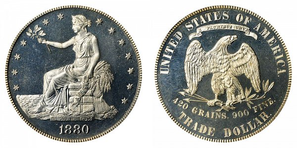 1880 Trade Silver Dollar Proof