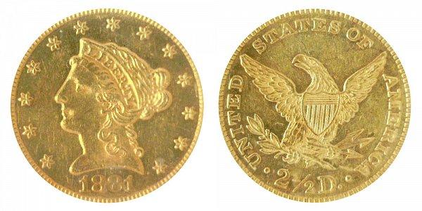 1881 Liberty Head $2.50 Gold Quarter Eagle - 2 1/2 Dollars