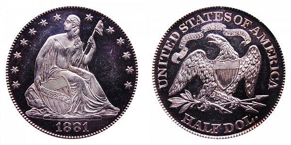 1881 Seated Liberty Half Dollar