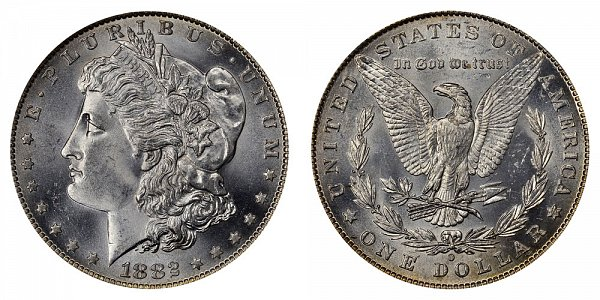 1882 O Morgan Silver Dollar